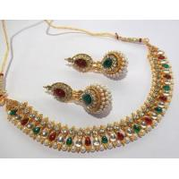 Buy cheap Multi color pearl gota necklace set from wholesalers
