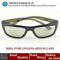 Buy cheap High quality Black Linear Polarized 3D Glasses for 3D Theater HDTV Blu-Ray DVD from wholesalers