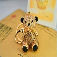 Buy cheap 3d rhinestone bear keychains from wholesalers
