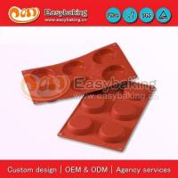 Buy cheap jn-016 6 Cavities flan mold cake baking pans silicone bakeware for cake decorating from wholesalers