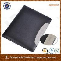 Buy cheap custom handmade pu leather cover loose leaf portfolio file folder with pocket from wholesalers