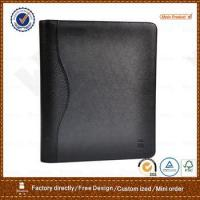 Buy cheap recycled bonded leather portfolio with calculator card slots notepad from wholesalers