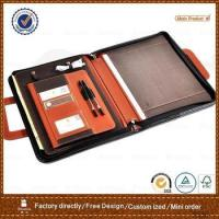Buy cheap hot selling custom leather folder/pu portfolio/file folder with logo e... from wholesalers