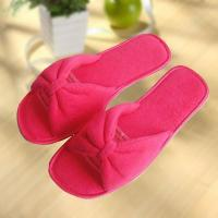 Buy cheap Wholesale tpr red pink bowknot flat ladies slipper from wholesalers