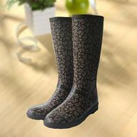 Buy cheap Elegant flowers printing rubber rain boot, woman knee boot product