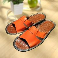 Buy cheap Comfortable cool leather slipper indoor/outdoor product