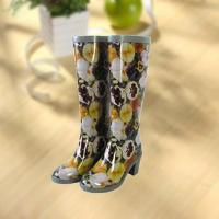 Buy cheap Sexy lady flower vase printing rubber rain boot product