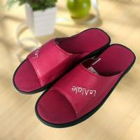 Buy cheap Rose red cool Imitation ox-tendon sole leather slipper product