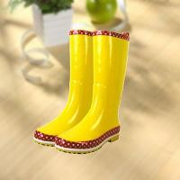 Buy cheap Fashion shiny smooth yellow woman rubber rain boot product