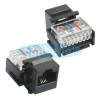 Buy cheap CAT.3 UTP Telephone Jack 6P4C Toolless Black from wholesalers