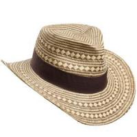 Buy cheap Wholesale Paper Cowboy Hat Pattern Man Hat Straw Cowboy Hat Leopard Cowboy Hat SM014033 from wholesalers