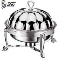 Buy cheap Pumpkin Shape Cover With Handle Silver Chafing Dishes To Keep Food Warm from wholesalers