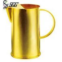 Buy cheap 1.5L Golden Polished Water Pitcher Stainless Steel Tableware Food Grade from wholesalers