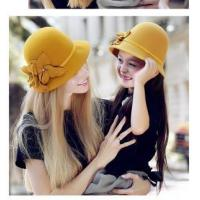 Buy cheap hot sale Wool Smart Simple flower Felt Winter Hat FW061008A from wholesalers
