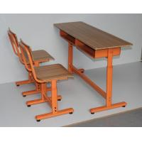 Buy cheap Plywood Double Height Adjustable School Desk And Chair from wholesalers