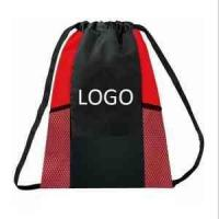Buy cheap 201396131839Custom 210D Drawstring Bag with Two Mesh Side Pockets from wholesalers
