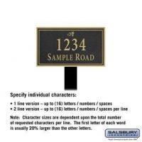 Buy cheap Signature Series Plaque - Rectangular - Lawn Mounted from wholesalers