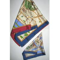 China Silk printed Map Scarf on sale