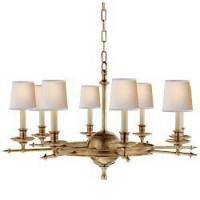 Buy cheap Visual Comfort E. F. Chapman Leaf and Arrow Large Chandelier in Antique-Burnished Brass CHC 1447AB from wholesalers