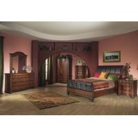 Buy cheap Layfayette Queen Sleigh Bedroom Set with Leather Headboard by Alpine Furniture from wholesalers