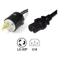 Buy cheap 50A Cords and Connectors NEMA L5-30P to IEC C15 Power Cord - 15A, 250V from wholesalers