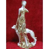 Buy cheap Resin Home Decoration lady and dog from wholesalers