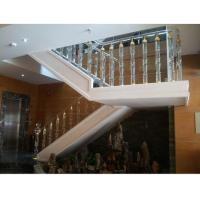 Buy cheap Round Design Crystal Glass Stair Balusters For Home Decoration from wholesalers