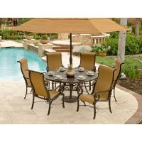 Buy cheap Athena Sling 7 Pc. Cast Aluminum Dining Set with 60 Round Cast Aluminum Table from wholesalers