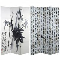 Buy cheap 6 ft. Tall Bamboo Calligraphy Canvas Room Divider from wholesalers