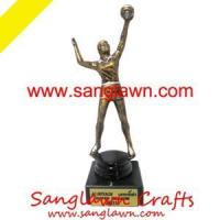 Buy cheap S3188 Volleyball statue Metal Crafts from wholesalers