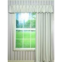 Buy cheap Solid Double Pinch Pleat Valance and Curtains with Gimp Fabric Trim from wholesalers