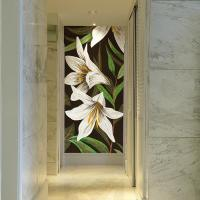 Buy cheap JY15-P131,Mosaic Flower Patterns Images Art Glass Mosaic Mural Tiles Wall Decoration product