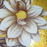 Buy cheap AM-010,Gold Background Luxury Flower Pictures Art Glass Mosaic Mural Tile Wall Decor Patterns Image product