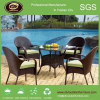 Buy cheap Luxury outdoor dining table and chair sets sale magic rattan metal dining table set from wholesalers