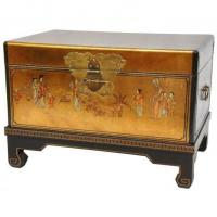Buy cheap Fine Lacquer Furniture Gold Leaf Small Trunk product