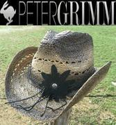 Buy cheap Peter Grimm - Mallorie - Women's Western Straw Cowboy Hat - Black from wholesalers