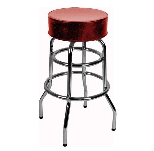 Commercial Double Ring Bar Stool with Red Swivel Round  : commercialdoubleringbarstoolwithredswivelroundseatst1000 from www.burrillandco.com size 500 x 490 jpeg 45kB