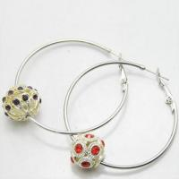 Buy cheap HoopEarrings Fashion crystal ball nice Hoop Earrings from wholesalers