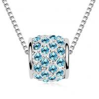 China CrystalNecklace Rolling Love Crystal Pendant Necklace (Royal Blue) on sale