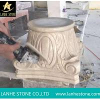 Buy cheap Marble Column Pillars Caps Beige Marble Architectural Columns from wholesalers