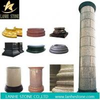 China Rose Red Marble Round Columns Pillars Constructive Stone Column on sale