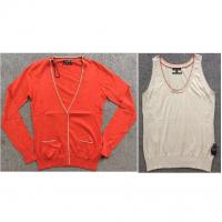 Buy cheap Ladies 100%cotton cardigan&vest sweater TC1-692 from wholesalers