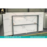 Buy cheap Calacatta White Quartz Stone Slabs Engineered Quartz Stone Solid Surfaces Polished Slabs from wholesalers