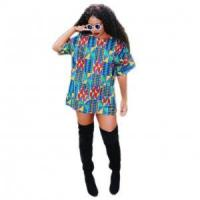 Buy cheap Women Fashion V shape Neck Loose T Shirt 21421 from wholesalers