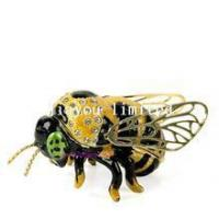 Buy cheap TBP1183-bee insect n bug trinket box from wholesalers