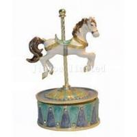 Buy cheap TBP1039-rocking horse music box carousel musical box from wholesalers