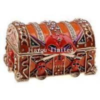 Buy cheap TBP0407-pirate skull treasure chest box metal alloy jewelry box from wholesalers