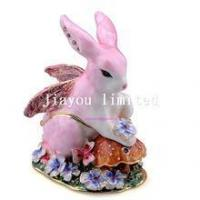Buy cheap TBP0398-fairy decor rabbit trinket box decorative tabletop collectible giftware from wholesalers