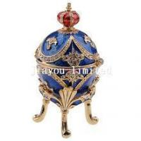 Buy cheap TBP0099-jeweled faberge egg trinket box from wholesalers