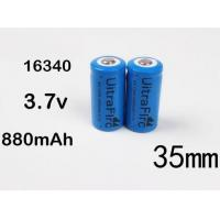 Buy cheap Battery Uitrafire 16340 3.7V 880mAh battery rechargeable wholesale from wholesalers